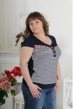 Женская футболка в полоску